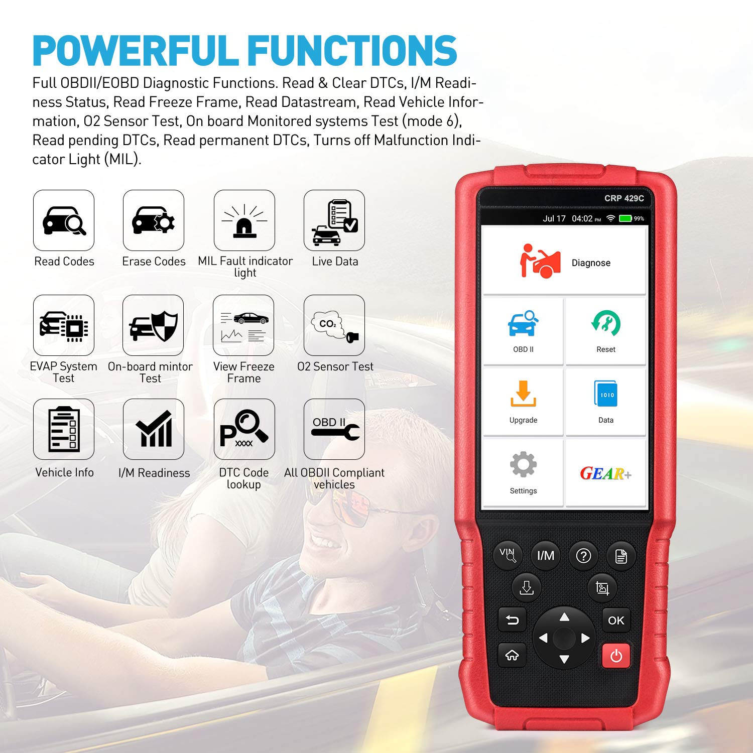 LAUNCH X431 CRP429C OBD OBD2 Scanner ABS SRS TCM ENG Code Reader Automotive Diagnostic Tool with Oil Reset,TPMS Reset, ABS Bleed, Injector Coding, IMMO, EPB, BMS, SAS, DPF,TPS by LAUNCH (Image #3)