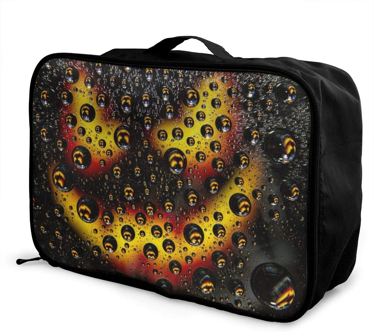 Yunshm Bubbles Drops Macro Surface Wallpaper Background Customized Trolley Handbag Waterproof Unisex Large Capacity For Business Travel Storage