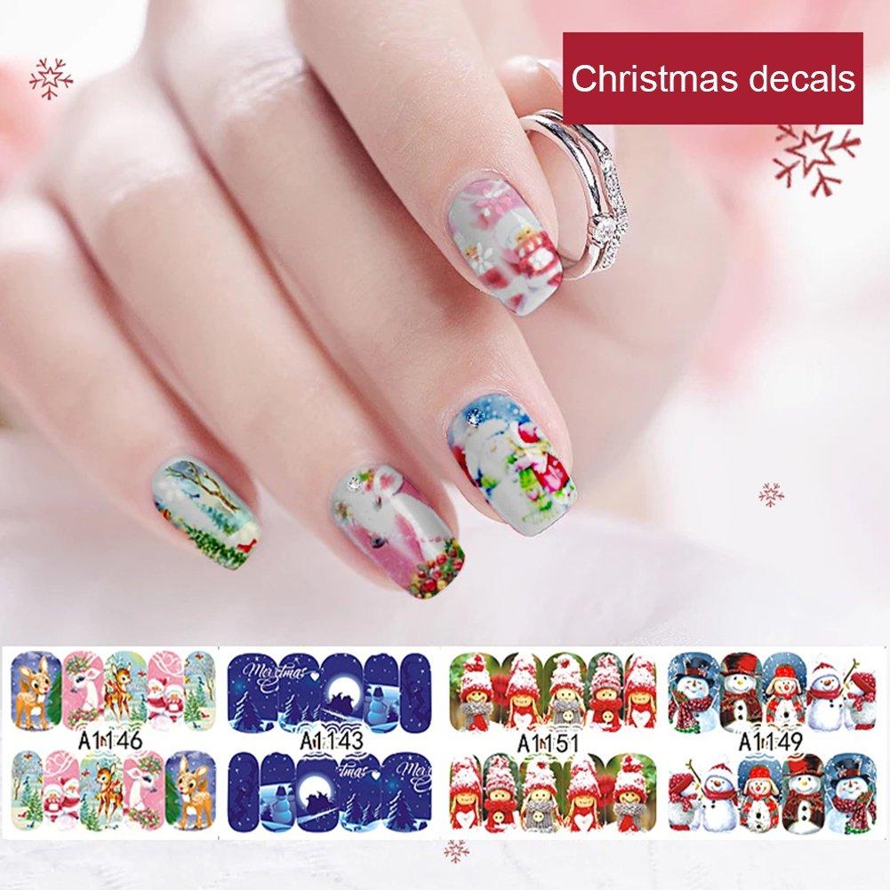 Nagelaufkleber Yiitay 12 Stück Weihnachten Serie Nagel Decals ...