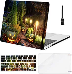 MacBook Air 13 Inch Case Illuminated Home Garden Path Patio Lights MacBook Air11 Case MacBook Pro13 Pro15 Plastic Case Keyboard Cover; Screen Protector; Keyboard Cleaning Brushush