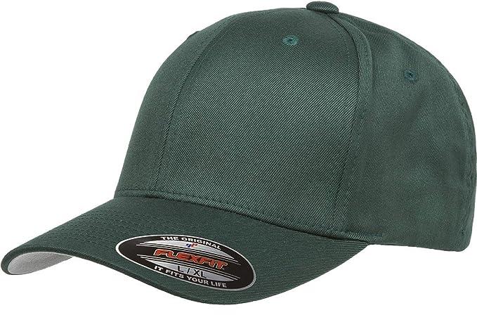 Flexfit - Gorra de béisbol para Hombre - Verde - Small/Medium ...