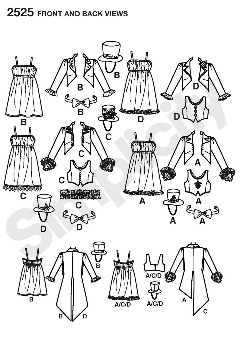 Simplicity HH 6 12/Schnittmuster 2525/Misses Costumes 44