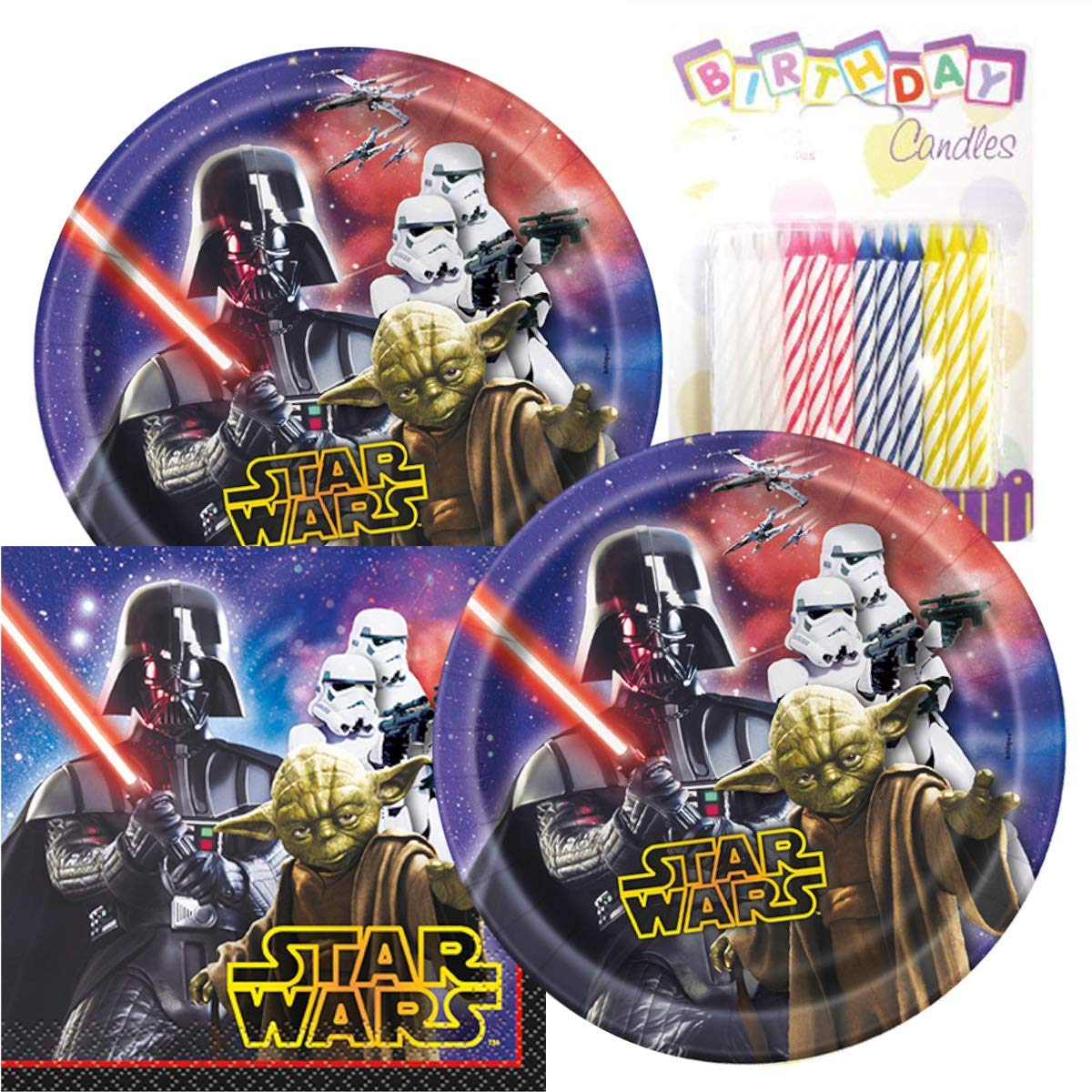 Paquete de fiesta de cumpleaños de Star Wars - incluye ...