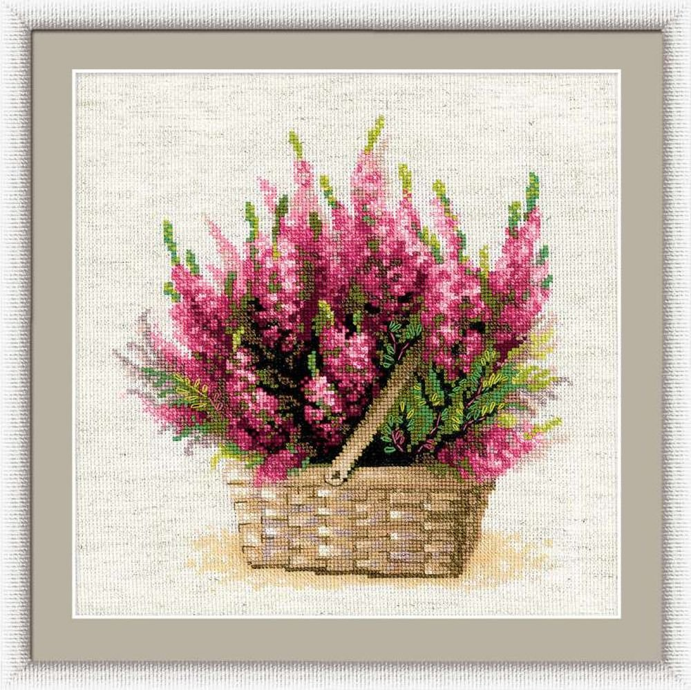 "Riolis /""Globe Flower Flaxen Aida Fabric"