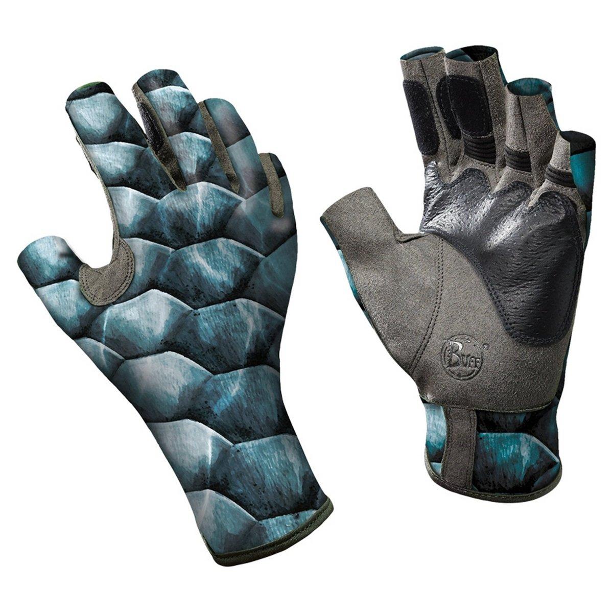 Buff Pro Series Angler Gloves II Tarpon Scales S/M