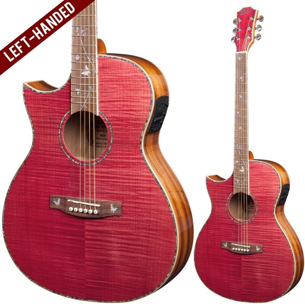 Lindo ORG-SL - Guitarra electroacústica para zurdos, color rosa