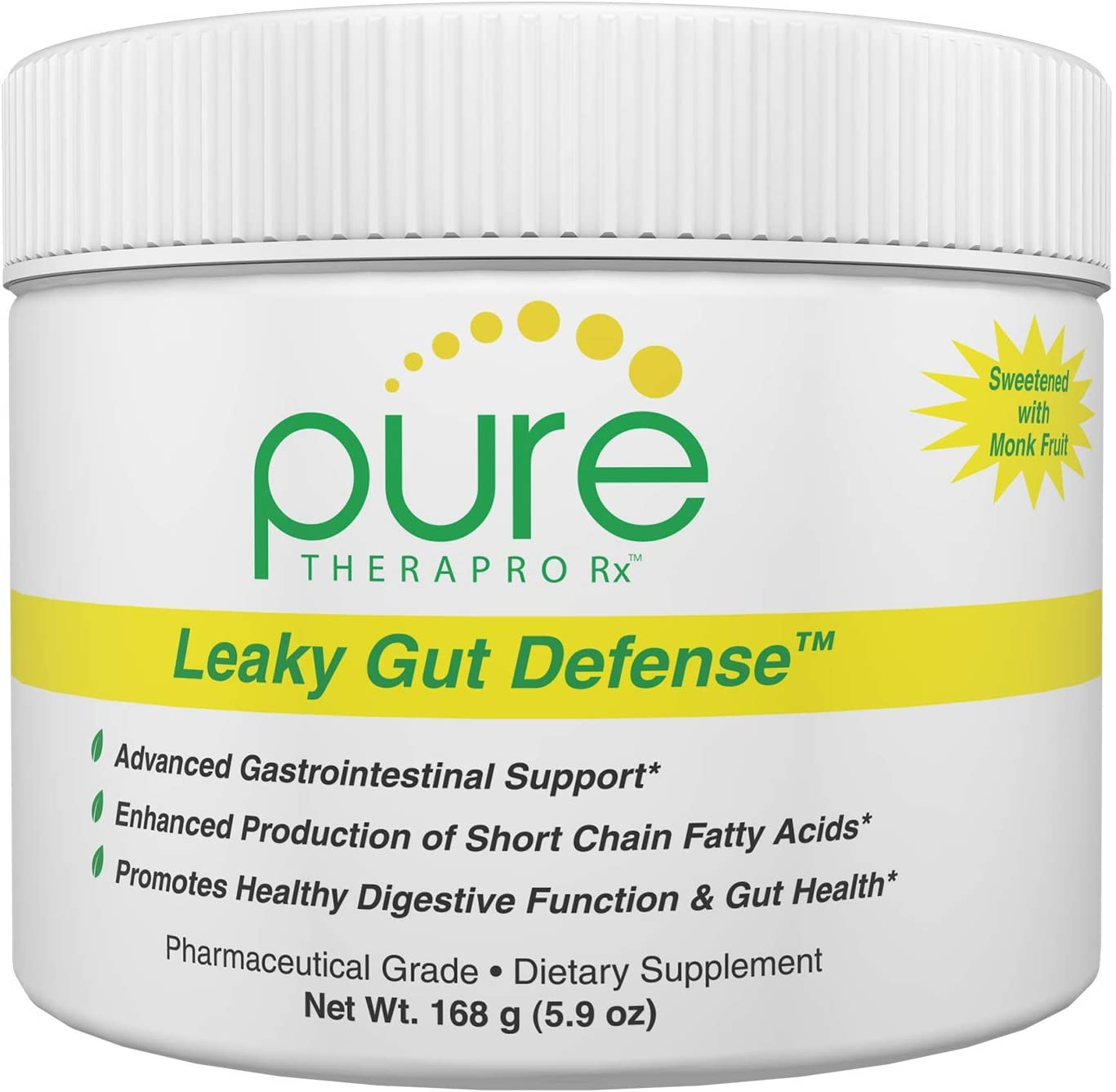 Leaky Gut Defense – 30 Servings GI Repair Contains 3g L-Glutamine, Licorice Root deglycyrrhized , Aloe Leaf Arabinogalactan Stevia-Free – Sweetened with Monk Fruit Pharmaceutical Grade