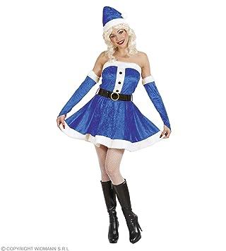 WIDMANN Disfraz Papá Noel Navidad azul Lusso Mujer Babba ...
