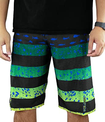 23c71ab9227d8 Image Unavailable. Image not available for. Color: Pelagic Men's Sharkskin  Americamo Boardshort for Fishing ...