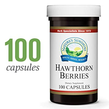 Nature's Sunshine Hawthorn Berries, 100 Capsules | Helps Enhance Heart  Muscle Function and