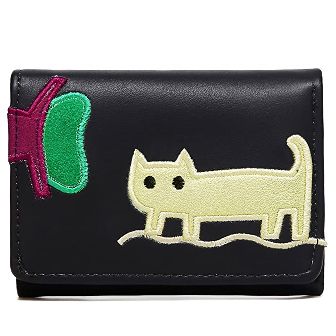638684ac93f5 Kemy s Girls Cat Wallet Cute Kitty Wallets for Women PU Leather Bifold  Small Coin Card Holder