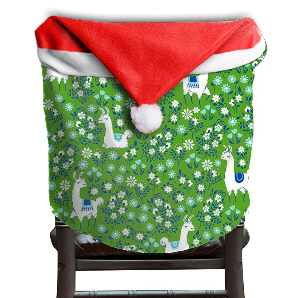 Llama Animal Christmas Chair Covers Cool Comfort Touch Chair Covers For Christmas For Adult Dinner Chair Covers Holiday Festive