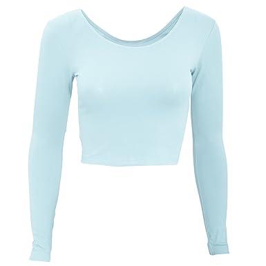 93deef45c23be American Apparel - T-Shirt Raccourci à Manches Longues - Femme  Amazon.fr   Vêtements et accessoires
