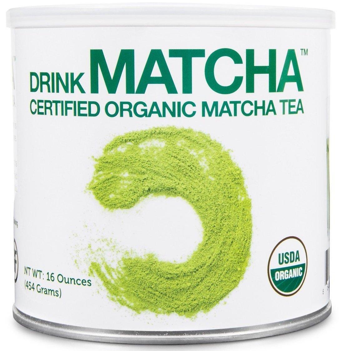 DrinkMatcha - Matcha Green Tea Powder - USDA Organic - 100% Pure Matcha Green tea Powder - Nothing added (1 Ounce tin)
