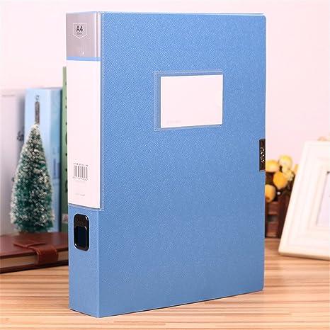 Archivo de la caja de plástico azul archivadores de palanca A4 File Box