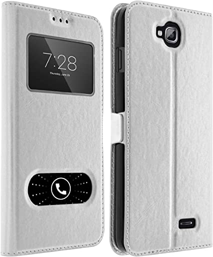 giscom – Funda con tapa Double Ventanas Huawei P9 Lite – Blanco ...