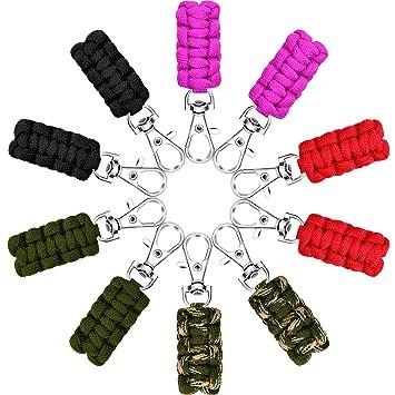 Amazon.com: Poen 10 piezas Paracord cremallera tiradores ...