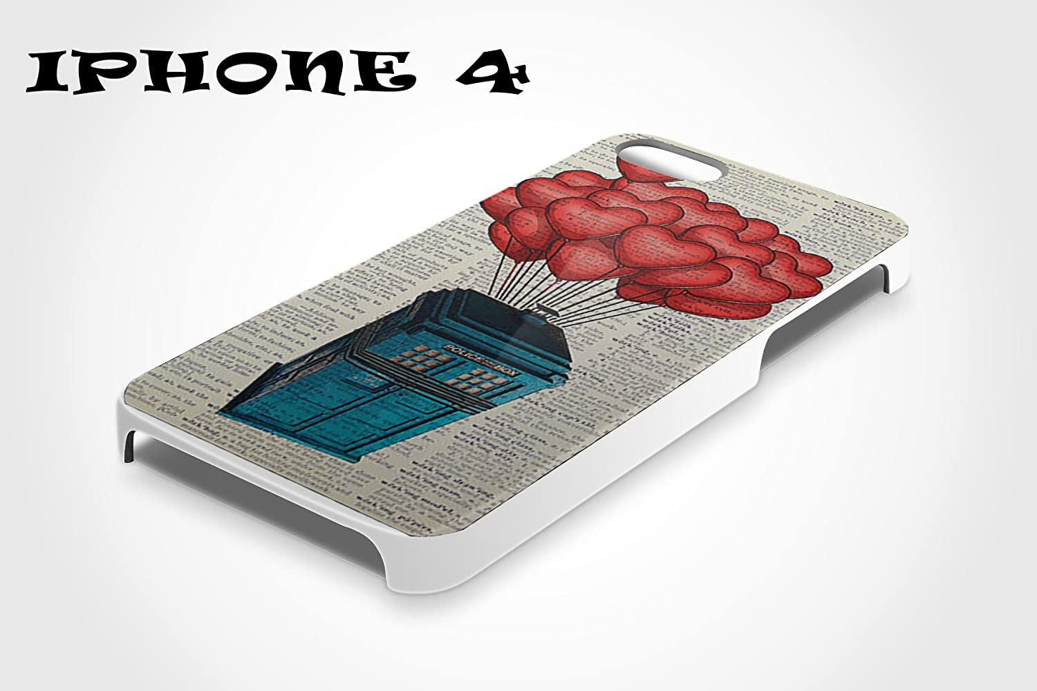 SPOCASES made to order { Doctor Who Police Box Case } - Package include 1 White Case for Apple iPhone 4 SP052