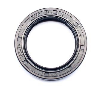 Metal Case w//Nitrile Rubber Coating TC Double Lip w//Spring 2 PCS EAI Oil Seal 28mm X 50mm X 10mm