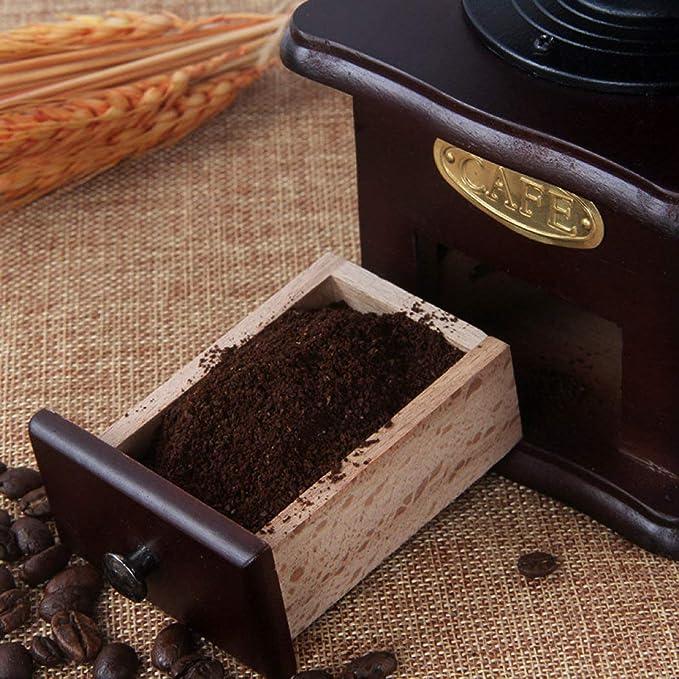 DPPAN Molinillo de café Manual Fresa de Hierro Antiguo, Base ...