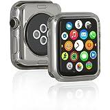 Wicked Chili Apple Watch 42 mm Ultra Slim TPU Case für Apple Watch / Sport / Edition / Nike+ / Hermès / Series 1 / Series 2 / Series 3 (passgenaue Schutzhülle, extra dünn) transparent
