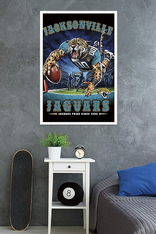 24.25 x 35.75 End Zone 17 Trends International Framed Poster Jacksonville Jaguars