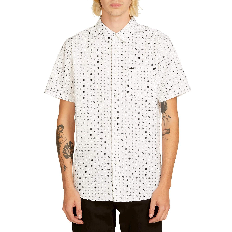 Volcom Mens Salt Dot Short Sleeve Button Up Shirt
