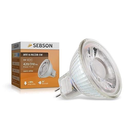 Sebson GU5, 3/ MR16 LED 5 W lámpara 12 V - prolongan 35 W