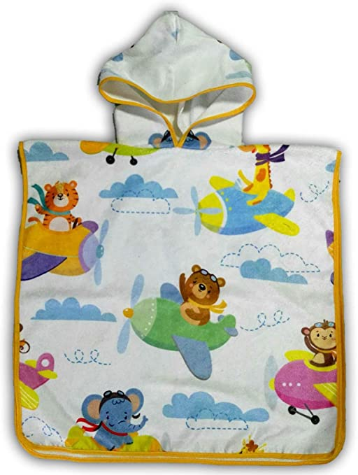 5 Colors Baby Hooded Poncho Boys And Girls Bath Towel With Cute Animal Design