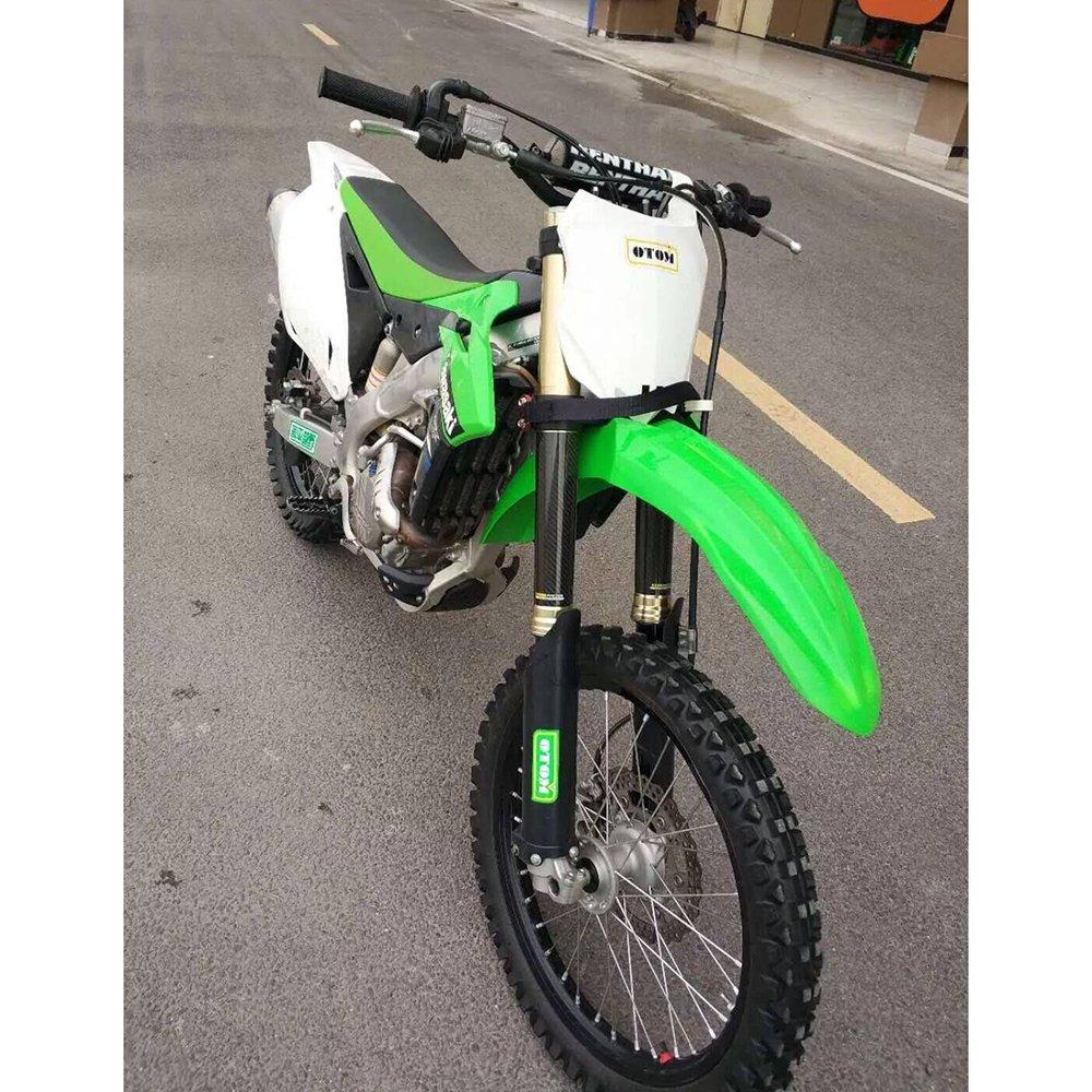Cubierta para Horquilla Delantera de Motocicleta DE 9,4 Pulgadas Absorci/ón de Impactos Botas Ajustables Protectores de Gaiters Fibra de Carbono JFG RACING universales para Moto de Suciedad