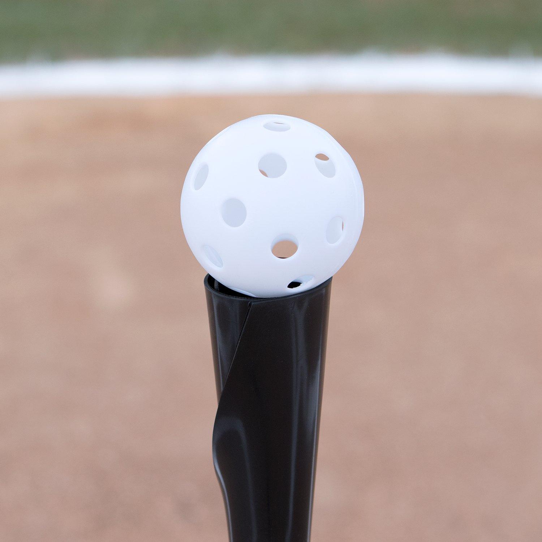 Hollow Balls for Sport Practice or Play 12 Pack White Plastic Baseballs