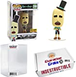 RICK AND MORTY Funko Pop Mr. Poopy Butthole With Gunshot Wound, Hot Topic Exclusive, Concierge Collectors Grade Bundle, Vinyl Figure