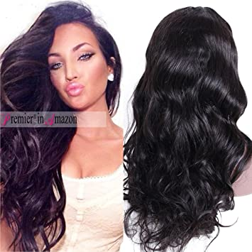 Premier Wig Body Wave Large Cap Lace Front Wigs -Glueless Brazilian Remy  Human Hair Natural 6e9e2a592
