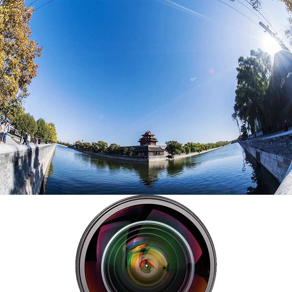 fixed-non-zoom lente Meike MK 8 mm F3.5 Ultra HD lente de ojo de pez para c/ámara r/éflex digital Nikon