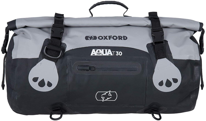 Oxford Aqua T-30 vattentät rullväska 30 L Svart/grå