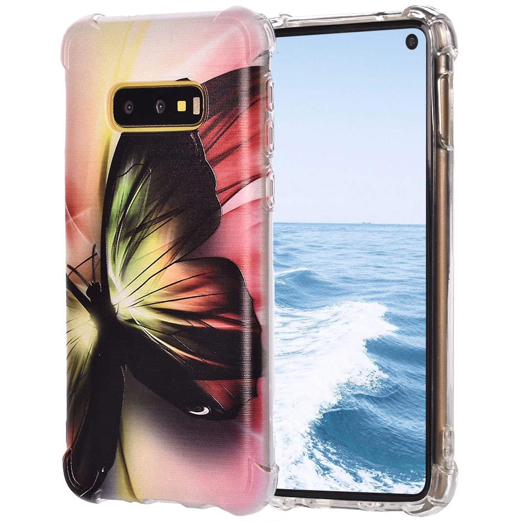 TPU Étui pour Samsung Galaxy S10E, Impression Peint Antidérapant Imperméable Anti-Rayures Leicht Coque de Pare-Chocs de Silicium Transparent pour Samsung Galaxy S10E