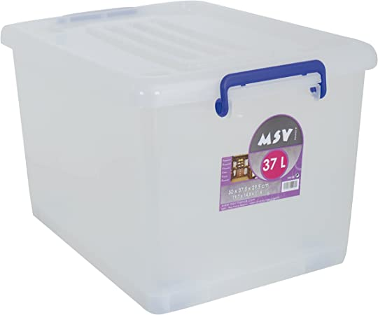 MSV Caja DE ORDENACION 37L, 50x37.5x29.5 cm: Amazon.es: Hogar