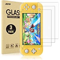 [3 Pack] Switch Lite Screen Protector, JOTO Tempered Glass Screen Film Guard Rounded Edge Real Glass Screen Protector…