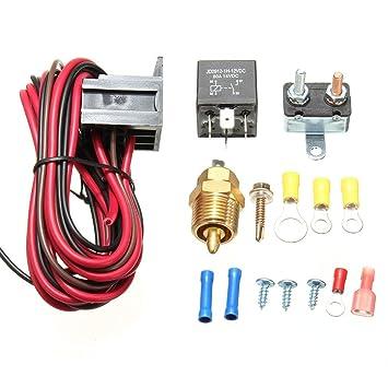 Amazingli 175 to 185 Degree Cooling Fan Thermostat Kit Temp Sensor on