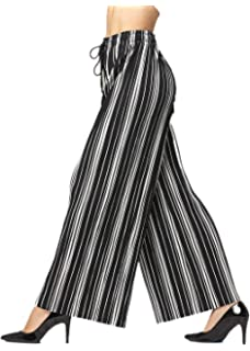 39df77a28c2 Premium Pleated Palazzo Pants for Women and Maxi Skirts - High Waist - Wide  Leg -