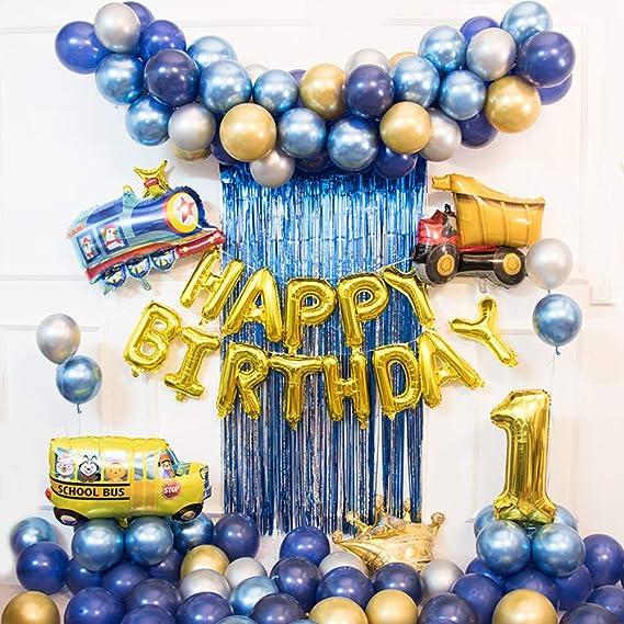 Amazon.com: GE&YOBBY Blue Metallic Party Balloons,Pearl ...