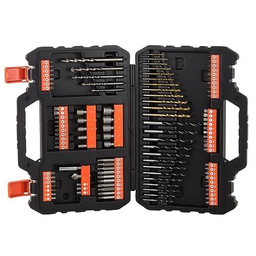 BLACK DECKER A7200 XJ Juego de 109 piezas para atornillar y taladrar con brocas Titanio