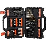 """BLACK+DECKER A7200-XJ - Juego de 109 piezas para atornillar y taladrar con brocas """"Titanio"""""""