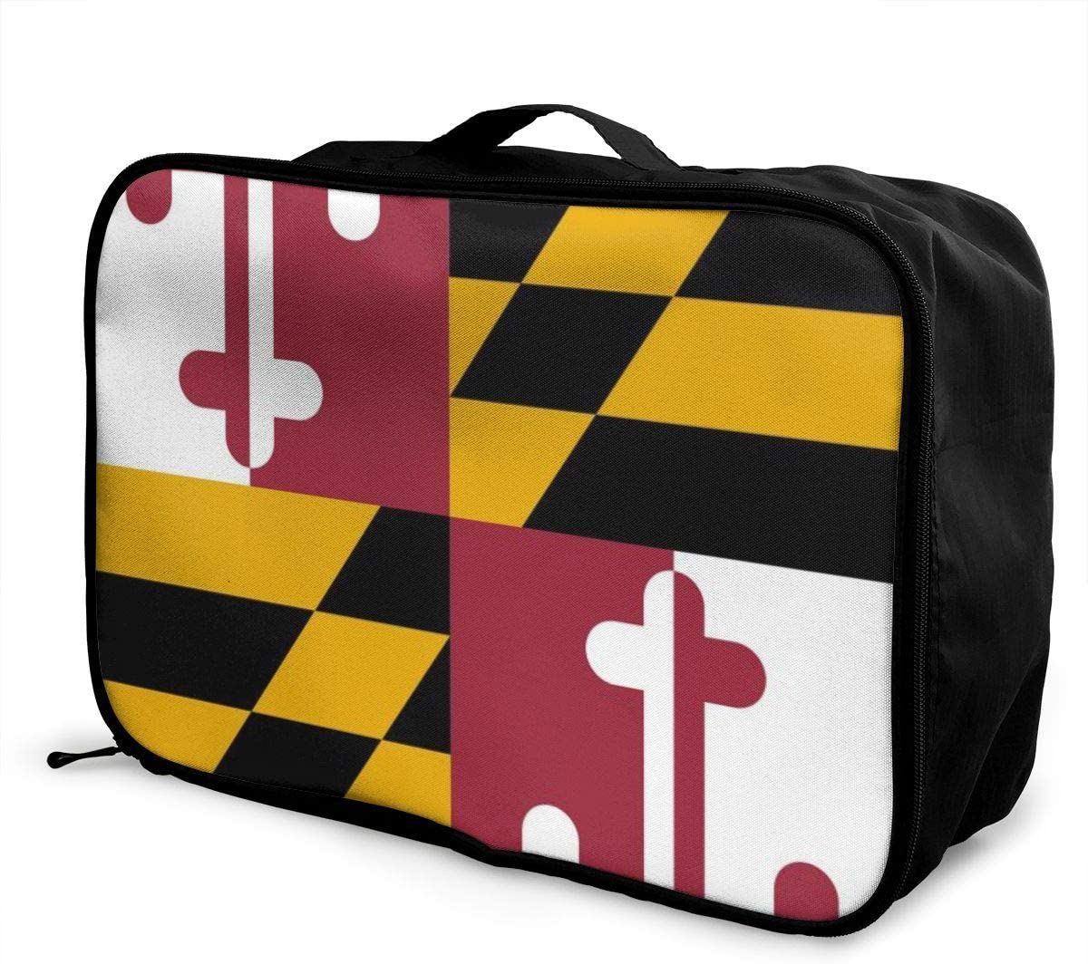 Culora Flag Of Maryland Lightweight Large Capacity Portable Luggage Bag
