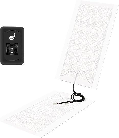 Electronicx Sitzheizung Carbon Zum Nachr/üsten Universal 2 Heizmatten Runder Schalter Auto Sitz Heizung 2 Stufen Schalter