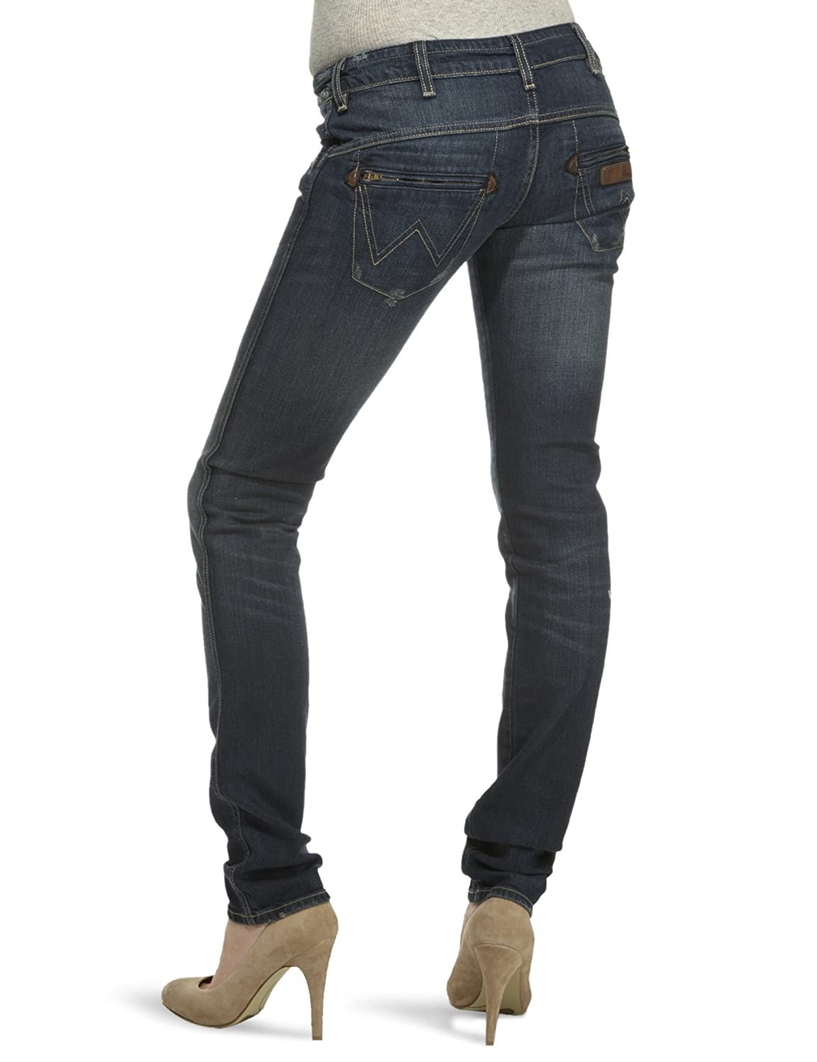 Order Womens Molly Damaged Blue Jeans Wrangler Clearance Get Authentic 39lGF