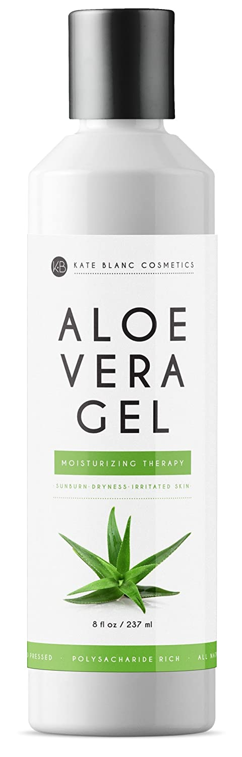 Aloe Vera Gel from Freshly Cut Organic Pure Aloe Plant by Kate Blanc - Great for Hair and Face