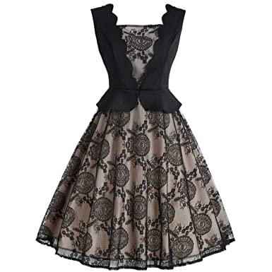 585553c52 Là Vestmon Femmes des années 50 rétro Audrey Hepburn Chic décolleté ...