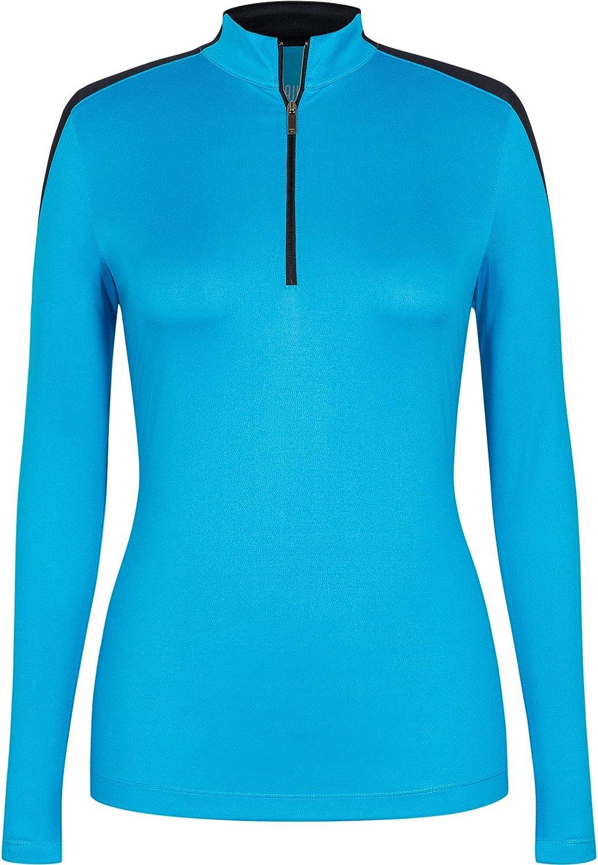 [テイル] レディース シャツ Tail Women's Long Sleeve Mesh Zip Golf [並行輸入品] XL  B07QRQP8LH