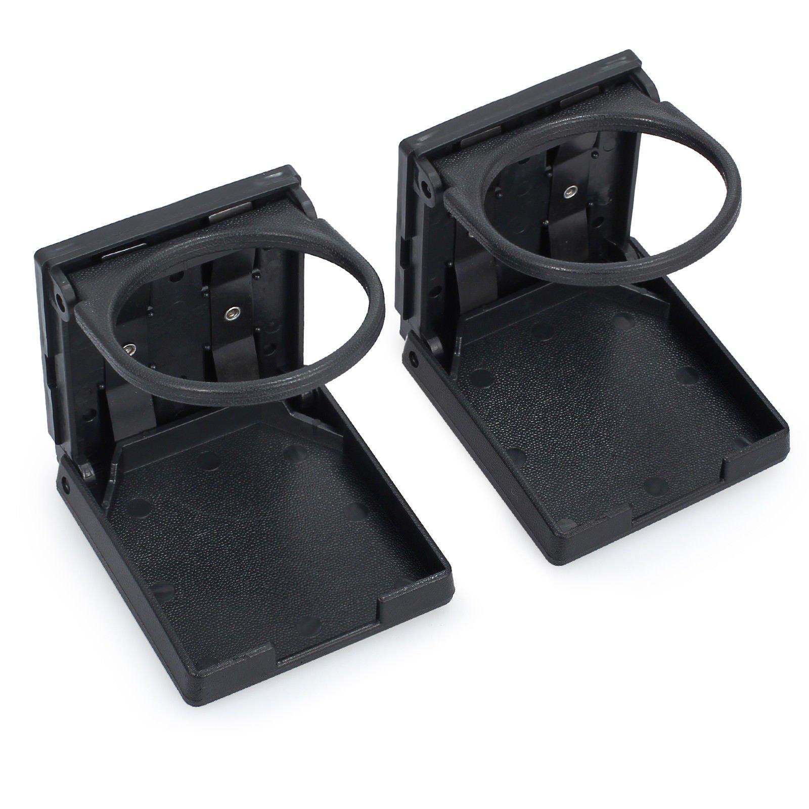AUTOUTLET 2PCS Universal Adjustable Folding Cup Drink Holder Waterproof Cans Plastic Holders Portable 75MM Diameter for Car Truck Boat Van, Corrosion-Resistant